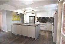 Yallambie - Modern Kitchen / Our clients, Mike and Hans, clearly needed a new kitchen. They wanted something sophisticated and modern to suit their lifestyle and entertainment needs. Our clever designer, Suzzanne, was able to see past the awkward space and create something perfect for the needs of the clients and their home.