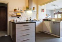 Ashburton Kitchen / Designer: Corey Johnson - Location: Ashburton Photography by Yvonne Menegol There is one word that best describes this kitchen – QUIRKY! It's fun and different, oozes character and the personality of its happy owners. Our clients, Chris & Grace, both have a flare for the artistic and wanted this to come through in their kitchen, the heart of their home. Designer, Corey Johnson, made sure that their vision became a reality and that everything worked together beautifully and seamlessly.