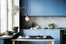 Blue Kitchen Inspirations / Let the blues inspire you this winter!