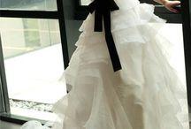 She wore a dress. / Wedding gear