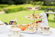 Afternoon Tea on Vintage China / Quintessentially English, our delicious Afternoon Tea is served on fine vintage china - by roaring log fires in the winter or 'alfresco' on the terraces or delightful gardens in the summer.  Add a glass of Champagne too for a real treat!
