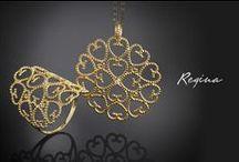 Collezione Regina / Ricami preziosi ispirati dall'eleganza dei motivi etruschi per onorare la donna con i caldi colori dell'oro. #CometeGioielli #CometeRegina