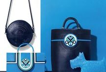 Holly Fulton for Radley / In our second capsule handbag collection with London based fashion designer HOLLY FULTON we continue to build on the strong shapes and vivid colour palette of Spring.  A fusion of Pop Art and Art Deco runs throughout the collection with rich blue and green tones, applique and embossing techniques, and nickel hardware