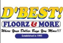 D'Best! Floorz & More / Are you looking for new floors? We can help you with that. Give us a call 407.207.8181 7309 E. Colonial Drive Orlando, Florida 32807