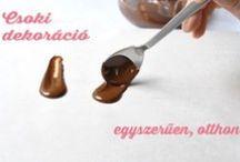 Egyszerű csoki dekoráció technika / Hogyan készíts saját csokoládé dekorációt mindenféle cukrászkellék nélkül?