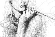Vince Low / Drawings not lifting the pencil!  P. S. Yo copié a Natasha