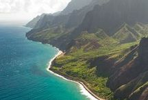 Kauai, Hawaii / Defined by its lush tropical landscapes, soaring cliffs, crystal blue waters and white sand beaches, the island of Kauai, Hawaii is exactly what you've dreamed of, and more. Explore 50-miles of heavenly beaches along the coast and visit small charming towns where no building is taller than a coconut tree. The endless adventure of Kauai begins right here.