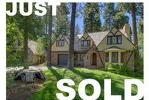 "SOLD - Mammoth Drive, Tahoe City / Charming Dollar Point Tudor located sunny corner lot. This beautifully maintained property offers 4 bedrooms (one bedroom being used as den), 2 fireplaces, professional landscaping and a fenced back yard. Walk to the pool and tennis courts, or enjoy the peace and quiet in the sun room. Detached ""boat house"" offers easy boat storage in winter and summer. The arched windows & doors, lush landscape, and unique architecture, make this one of Dollar Point's most picturesque homes."