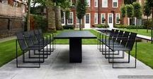 Modern Garden Furniture Installations / Here are some images to give a flavour of the different installations of modern garden furniture and accessories supplied to private homes, hotels and restaurants by Encompass Furniture here in the UK and beyond.