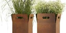 Contemporary planters & trellis / An overview of planters and trellis that Encompass supply.