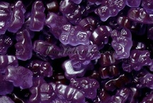Purple Candy / Delicious Purple Candy from Temptation Candy! Including Grape Gumballs, M&M's, Starburst, Grape Jolly Ranchers,  Purple Pixy Stix, Skittles, Frooties, Jelly Belly Beans, Tootsie Pops, Gummy Bears and much, much more!