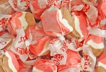 Taffy Candy / Salt Water Taffy from Temptation Candy! All your favorite flavors including Vanilla, Chocolate Chip, Cotton Candy, Grape, Banana Cream Pie, Cherry, Strawberries and Cream, Blueberry and much, much more!