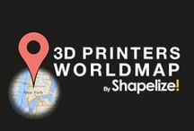 3D Printers WorldMap / Here you will find many consumer 3D printers from all around the world!