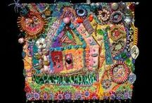 Art - Creations in 3D / Applique, needlework & fabric art; mixed media pieces; beautiful doorways, door handles & knockers; stunning mosaics; ceramics. (Sculptures are on a separate board).