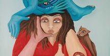 Zeichnungen und Bilder / Zeichnungen und Bilder in Tusche oder Acryl