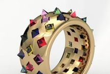 Swanky rings / Colourful, exclusive, ridiculously expensive, but very pretty, rings.