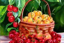 malované ovoce