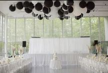 Black & White Weddings / Trendy, classic B&W wedding inspiration.