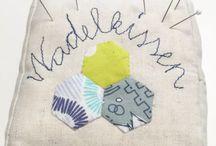 Nadelkissen - Pincushion / Nähen patchwork nadeln Nadelkissen pincushion