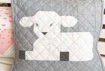 Quilt - Kissen - Pillow / Patchwork Kissen Quilten Pillow