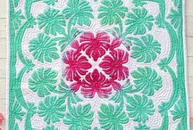 Quilt - Hawaiian / Hawaiian Patchwork Quilt Aplizieren