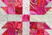 Quilt - Bear Paw / Patchworkmuster Patchwork Block Quilt