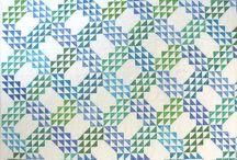 Quilt - Ocean Waves / Qcean Wave patchwork Quilt