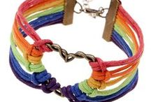 Bijoux pour Gays et Lesbiennes / TOP Bijoux Gays pour hommes et femmes. Bracelets Gay pride,Multicolore, Pendentifs Gays, Boucle d'Oreilles, Colliers gay...