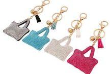 Porte clés MODE Femmes / Porte clés Strass et Pierres naturel pour Femmes.Porte clés de Créateurs LUXE- MODE-RARES