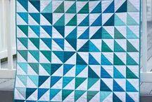 Quilt - HST - Dreiecke / Quilt Patchwork half square Triangels
