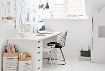 Simply Home office / Pretty, modern and fresh design ideas for an organised and inspiring home office. From clever storage to small space solutions these ideas will make you wish you worked at home.