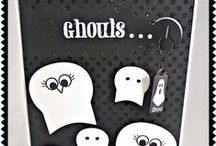 Halloween Tiny Tags {Stamp and Die Combo} / Halloween Tiny Tags stamp and die set comes with two of our Jewelry Tag dies and darling stamps to fit them! Clear Stamps Made in the USA!