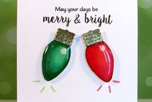 Shine Bright {Stamp Set} / Shine Bright stamp set coordinates with our Christmas Lights Shaker dies along with the Grandpa's Glass Candles and Lantern dies.  Also can be used for everyday cards!