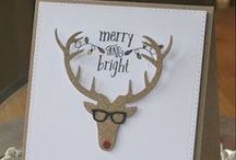 Stately Stag {Die Set} / This fun but serious die set is perfect for Christmas or masculine cards!  Includes antler embellishments as well as shades!