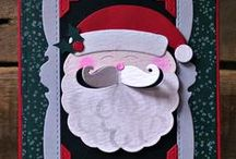 Santa Claus {Die Set} / Santa Claus Die Set can be a solid die cut with a popped out moustache or can be made into a shaker easily with the layered die.