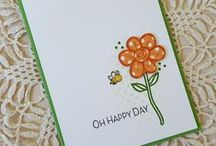 Simply Said: Happy Daisy {Stamp Set} / Happy Daisy is a hand drawn daisy with fresh, happy sentiments