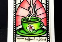 Cup of Love {Stamp Set} / Cup of Love Stamp Set is a stamp in the Grandpa's Glass Series in memory of Jillian's grandfather who was a stained glass artist!