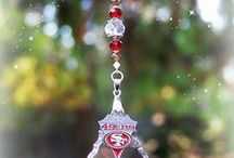 Football / Baseball Decorations / NFL and MLB Crystal Suncatchers - Custom Designs and Other Team Requests are Welcomed! JGBeads.com