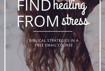 Stress Management / Everything you need to chill out: stress relief techniques, Christian stress management, relaxation techniques, biblical meditation, prayer, how to relieve stress, anxiety relief, how to control stress, stress release.