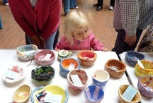 Milwaukee Empty Bowls / Visual arts, culinary arts, and performing arts coming together to help the community. / by Jean Wells - Jean's Clay Studio