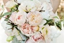 wedding inspiration: light pink & cream bouquets / by robin y.