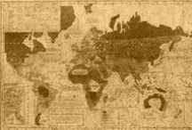 ✈ Old MAPS [Exploration] / The knowledge of the ancient explorers in their quest to conquer the limits of Earth was written in old cartographic documents like these. / by ✈ The Last Footprint ✈ Travel Photography