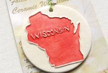 "Made in Wisconsin, Etsy / Looking for Artists on ETSY from WISCONSIN? This Pin Board features members of ETSY's ""Made in Wisconsin"" Team, a.k.a. 'The Moo Crew'.  Please follow our board to find out what is being created in Wisconsin! #madeinwisconsin #wisconsinmade / by Jean Wells - Jean's Clay Studio"