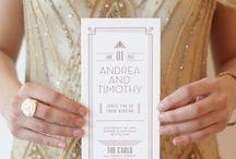 Art Deco Weddings / Vintage 20s inspired wedding pins!