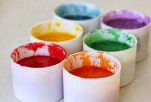 Domácí barvy, hmoty