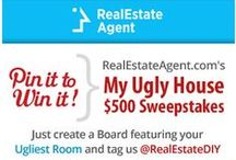 "RealEstateAgent.com Ugly House Sweepstakes / Do You Have An Ugly House or Junk Room That Needs Fixing Up? Enter the Sweepstakes for a Chance to Win a $500 Ikea Gift Card! -Create a Board Called ""RealEstateAgent.com Ugly House Sweepstakes"" -Pin photos of the ugliest room/part of your home and Tag @realestatediy  -Each pin must include a brief description with #REAWinner & #MyUglyHouse  Earn Bonus Points: Pin your favorite pins from our Pinterest boards!  Enter through Oct. 31st, 2014. Happy Pinning!"