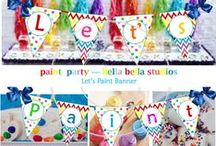 Art / Rainbow Party / For any Age playing with colours on your birthday is fun!