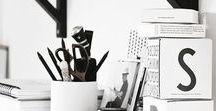 INTERIOR: DESK ORGANIZATION / Desk & Beauty Desk, Ideas, Inspiration, Decoration, Make Up, Storage, Work, Paper, Mac, Computer