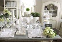 Dekoracje stołu / dekoracje stołu, styl prowansalski