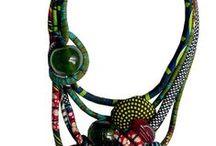 Complementos con telas africanas / ideas para hacer bolsos, collares, con las preciosas telas africanas wax